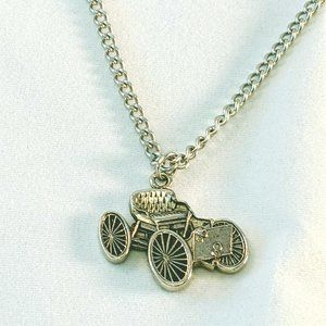 Jewelry - ANTIQUE OLD CAR SILVER TONE NECKLACE Model T
